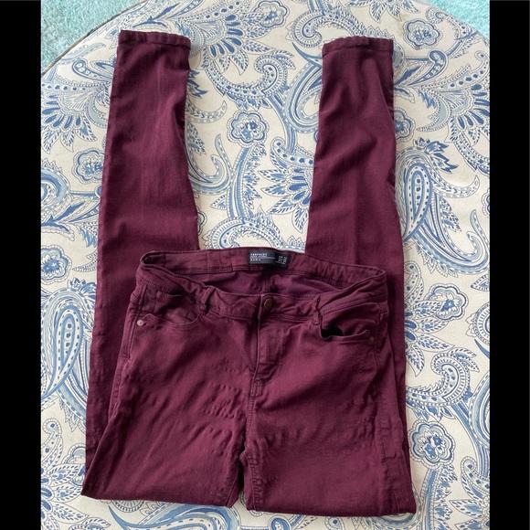 Zara burgundy jeans